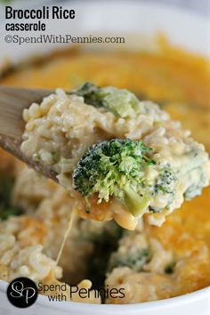 Broccoli and rice in a an easy cheesy homemade sauce! Perfect as a side or add in some chicken or ham for a simple dinner that the whole family will love!
