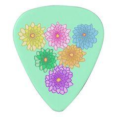 Colorful Mums Flowers Chrysanthemums Guitar Picks Pick #picks #music #guitarpicks