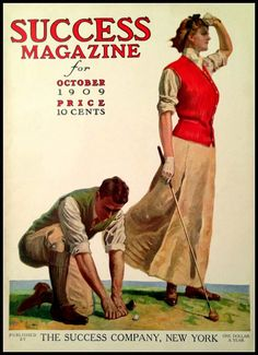 Golf Success Magazine Cover Print 1909 by BloominLuvly on Etsy