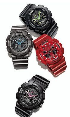 G-Shock 'Neon Highlights' Ana-Digi Watch, G Shock Watches, Casio G Shock, Watches For Men, Luxury Watches, Rolex Watches, Digital Watch, Casio Watch, Nordstrom, Mens Fashion