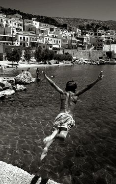 Pothia harbour, Kalymnos, Greece   photo via: Korkut Bostanci  http://www.flickr.com/photos/bostankorkulugu/4441938752/