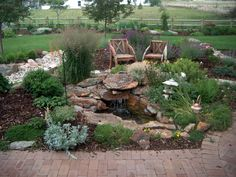 A small contained waterfall is perfect for our semi-arid climate.