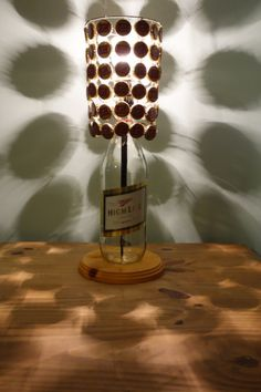 Miller High Life 40 Oz Bottle Lamp Complete With Bottle Cap Lamp Shade - The Champagne Of Lamps