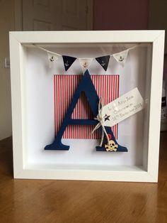 Personalised framed letter pirate theme  by FreddieAndRoo on Etsy