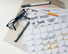 268cm:   7:30 pm // I planned my month on my cute... - A++ STUDENT