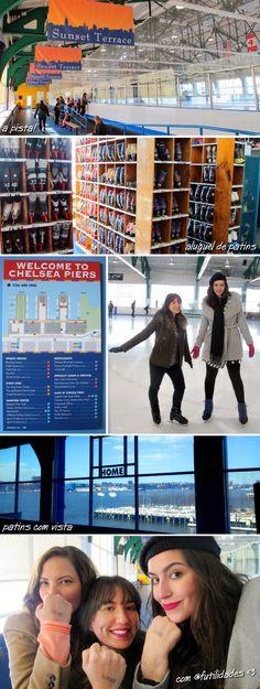 Chelsea Piers, NY, NYC, patinação no gelo, ginástica olímpica, esportes, inverno, passeio, linea, sucralose, wellness, fitness, shake, fhits