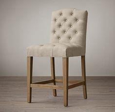 Bennett Camelback Upholstered Counter Stool