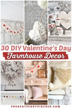 Add a touch of country charm to your home with these farmhouse valentine's day decorations. From DIY Valentine's Day garlands to DIY Valentine's Day wreaths, there are plenty of DIY farmhouse valentines day decor ideas to choose from. Diy Valentines Day Wreath, Valentine Day Love, Valentines Day Decorations, Diy Garland, Garlands, Decorating Ideas, Decor Ideas, Country Charm, Valentine's Day Diy