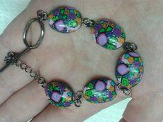 Colourful mosaic bracelet