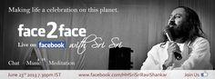 Global Meditation for Peace with Sri Sri on 23rd June 7.30pm - 9pm. Be there!  #srisri #srisriravishankar #oneworldfamily #artofliving #srisriface2face