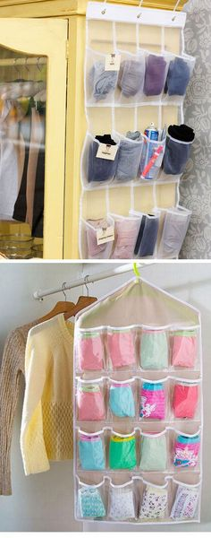 Use Shoe Organizers for Underwear | Easy Storage Ideas for Bedrooms Closets | DIY Organization Ideas for Bedrooms Teens