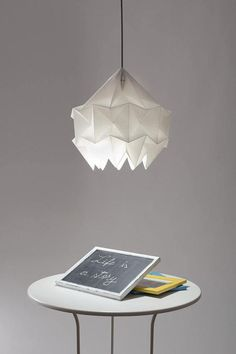 SNOW paper origami lampshade white by Lightplaystudio on Etsy