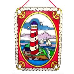 My newest listing! Stop on by & save when on your purchases ~ Use CXSHOP10 coupon for 10% off purchases under $12 and use coupon code CXSAVE15 for 15% off purchases $12 and up. Both coupons are before shipping. ORNAMENT  Nautical Landscape  Lighthouse  by CreativeXpression1, $15.00