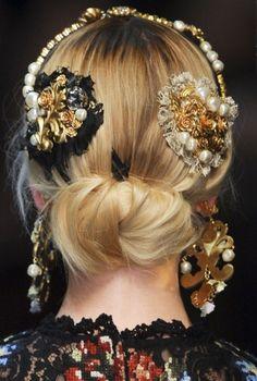 Accessori per capelli con fascia per capelli da sposa e per cape Lc