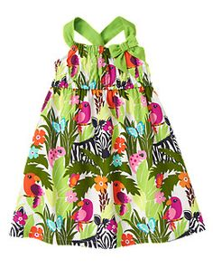 Zebra Jungle Dress #KidsAroundtheWorld