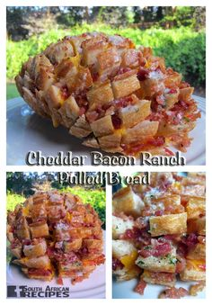 South African Recipes CHEDDAR BACON RANCH PULLED BREAD (A.K.A. CRACK BREAD) (Steph from PlainChicken)