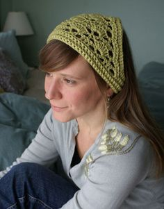 crochet headscarf, just lovely, thanks so for the pdf xox
