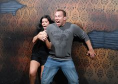 Pictures taken at a haunted house with a hidden camera. Follow the link to see the rest of the picture. They are awesome. ( Is it just me or is there alot of guys hugging and holding hands in these shot?!?! Where are all the ladies at??? )