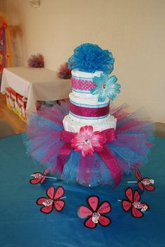 Diaper Cake made by The Hobby BOWtique!