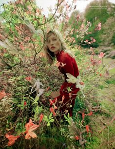 Edie Campbell & Kate Moss 'Wizard' by Tim Walker for Love 15