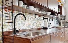 10 Awesome IKEA Hacks for the Kitchen - Painted pattern kitchen backsplash