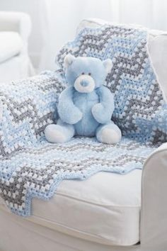 Bernat® Baby Coordinates™ Ripple Waves Crochet Blanket FREE pattern- Great baby gift idea! by tchingizgr8