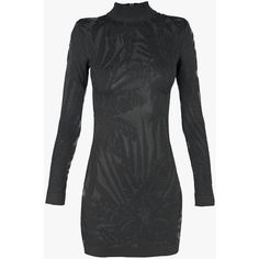 Balmain Jersey-jacquard mini dress ($865) ❤ liked on Polyvore featuring dresses, jacquard dress, jersey dress, black mini dress, black jersey and short black dresses