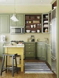 light sage and buttercup kitchen - change yellow to brick red?