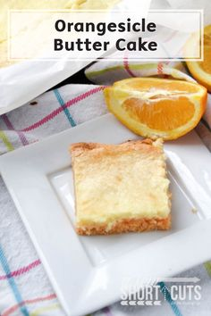 You are going to love this flavorful and gooey Orangesicle Butter Cake! With only 5 ingredients, this simple dessert recipe is one to remember, especially for the final days of summer.