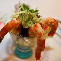 Γαρίδες κοκτέιλ Shrimp, Meat, Recipes, Food, Essen, Meals, Ripped Recipes, Yemek, Eten