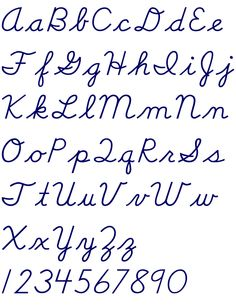 how to write fast and beautiful cursive