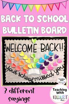 School Welcome Bulletin Boards, Elementary Bulletin Boards, Teacher Bulletin Boards, Preschool Bulletin Boards, Bulletin Board Display, Welcome Back To School, Classroom Bulletin Boards, Elementary Schools, School Classroom