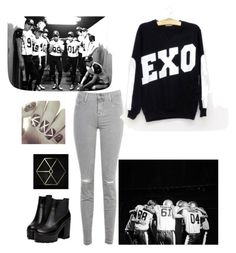 """""""E.X.O"""" by kpop200 on Polyvore featuring J Brand and KRISVANASSCHE"""