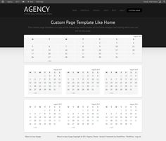 Create Custom Page Template Like Home For The Agency Theme