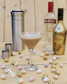 Chocolate Flat White Martini cocktail recipe vodka Bailey's