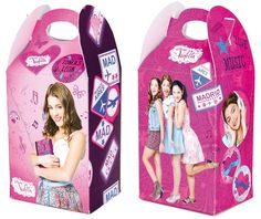 Violetta party boxes for snacks or favors, #violetta #violettaparty #violettafavors violettapartyboxes