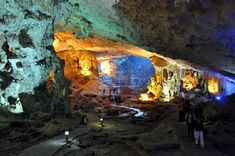 Hang Sửng Sốt, Vietnam    Hang Sung Sot, or the Cave of the Surprises, is one of the most amazing caves in Halong Bay in Vietnam.