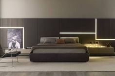 Bedside table / contemporary / lacquered wood / rectangular - JACQUELINE by Carlo Marelli & Massimo Molteni - MisuraEmme Bedroom Bed Design, Modern Bedroom Decor, Bed Furniture, Furniture Design, Double Bed Designs, Interior Design Images, House Beds, Suites, Luxurious Bedrooms