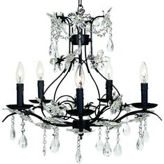 "Universal Lighting and Decor Cinderella Black 24"" Wide Chandelier ($459) ❤ liked on Polyvore featuring home, lighting, ceiling lights, cinderella, chandeliers, extras, lights, black, black chandelier lighting and onyx lamp"