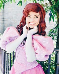 ariel the little mermaid Disney Parks, Walt Disney World, Disney Pixar, Ariel Disney, Disney Princesses, Disney Live, Disney Magic, Ariel Pink Dress, Disney Cosplay