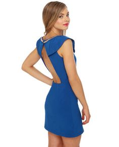 Love Royal blue and the open back