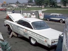 A lot of garage owners would run there own race cars back in the day