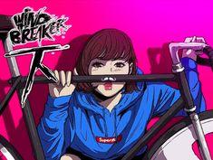 Read Wind Breaker, Now! Digital comics in LINE Webtoon, updated every Monday. Retro Bicycle, Bicycle Art, Bike Sketch, Track Cycling, Bike Illustration, Bicycle Painting, Urban Bike, Wind Breaker, Manhwa Manga