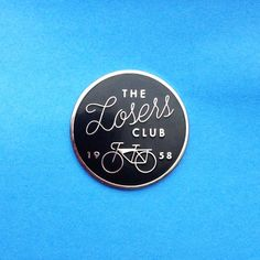 The Loser's Club IT Enamel Pin Stephen King Pennywise Clown Scary Halloween Horror Book Tim Curry 1950's Silver Bike Rubber Lapel Pin Flair