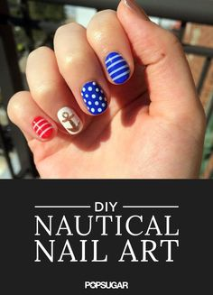 Though we're sad to see another Summer go, we're sending off the season with a bang — nautical nail art.
