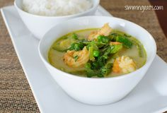 Slimming Eats Low Syn Thai Green Prawn Curry - gluten free, dairy free, Slimming World and Weight Watchers friendly Thai Green Prawn Curry, Thai Curry Soup, Green Thai, Green Curry, Cooking Recipes, Healthy Recipes, Healthy Meals, Yummy Recipes, Free Recipes