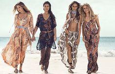 Adriana, Doutzen, Joan & Natasha go on a bikini-clad mission for H&M