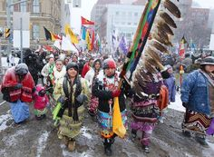 First Nations March for to Protect the Environment