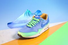 """Nike Air Max - Part of the exclusive """"Beaches of Rio""""-Pack which has recently been released.  Photography: Wendy van Santen Set dressing: Hans Bolleurs"""