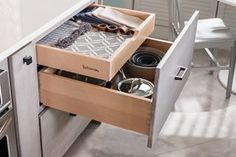 Drawer Base; Two Drawer with Tiered Storage - Yorktowne Cabinets